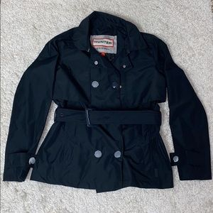 NWT navy Hunter refined Trench jacket size small